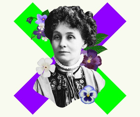 Image of Emmeline Pankhurst courtesy of the Women's Library at London School of Economics