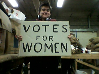 Votes for Woman, Anna 'banner' Thomas